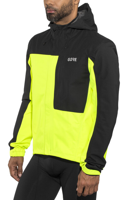 Neon Wear Tex Hooded Jacket Paclite Yellowblack C3 Herren Gore PXZkuOi